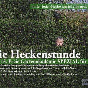 """DAS PROGRAMM: 15. Freie Gartenakademie Spezial 2020 """"Die Heckenstunde"""""""